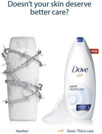 dove competitors ad comparison