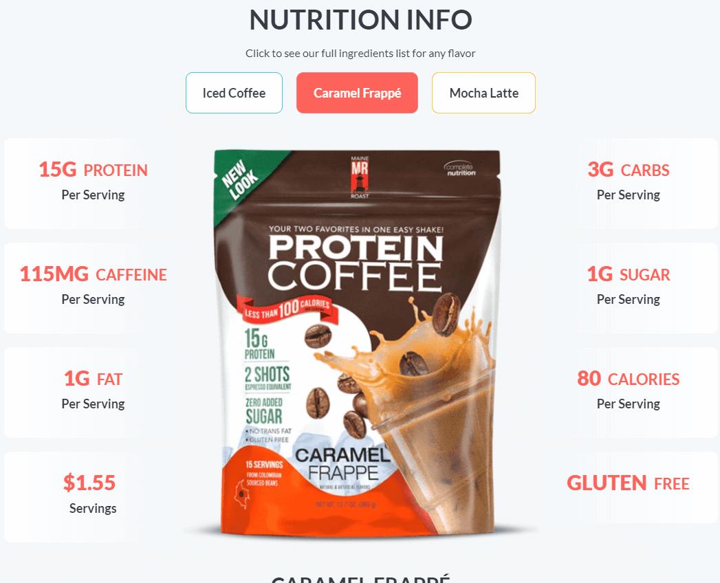 maine roast nutrition info