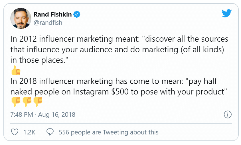 rand fishkin influencer marketing tweet